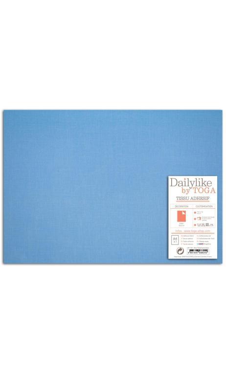 Tela adhesiva A-4- lisa azul de China