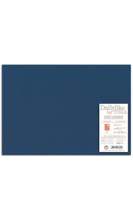 Tela adhesiva A-4 - lisa azul ultramar