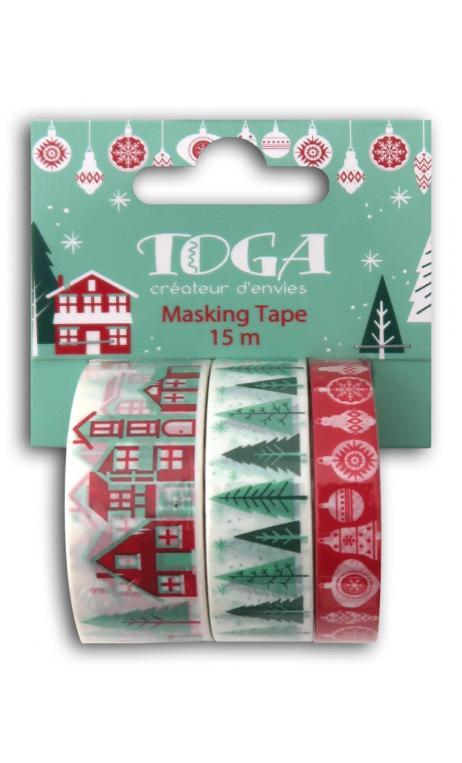 Masking tape x3 Feliz Navidad 5m
