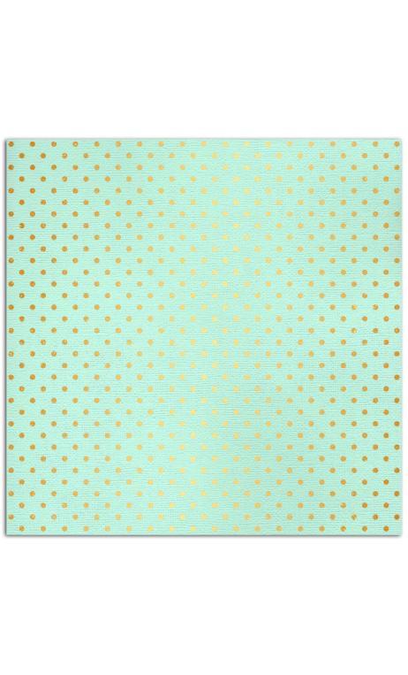 Mahé2 30x30 - verde menta & pois or 1f.