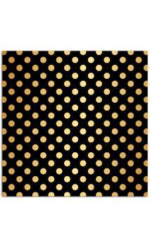 Mahé2 30x30 - negro & topos grandes oro 1f.