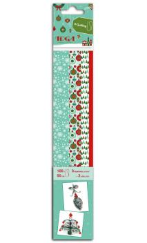 4x25 bandas quilling impresas Feliz Navidadâ50cm