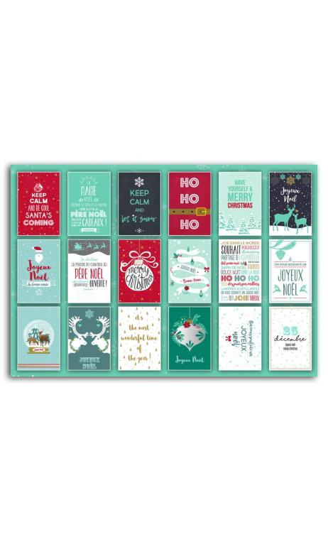Bloc 10x15 carte postale de Navidad - 18f