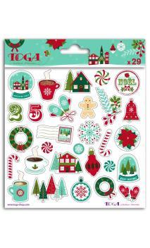 1 hoja de stick. puffy  15x15 Feliz Navidad