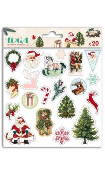 1 hoja stickers puffy 15x15 Dear Santa