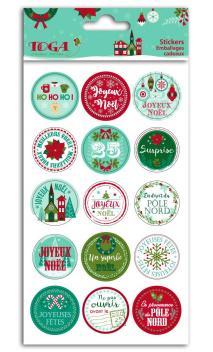 1 hoja stickers para envoltorios de regalos  Feliz Navidad