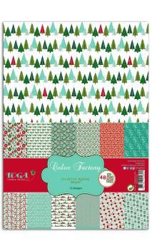 Color factory - A-4 - 48 hojas Feliz Navidad