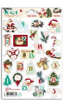 1 hoja stickers chiffres 1 a 25 Dear Santa