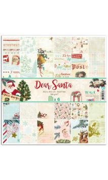 Surtido 6 papeles r/v 30x30 Dear Santa