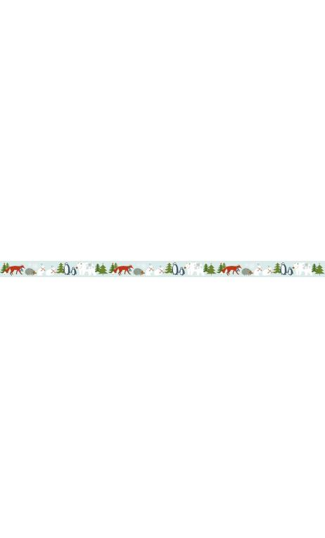 Washi tape winter forest, animales