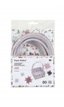Tiras de papel, winter forest