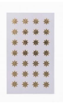 Stickers stars 12mm, oro