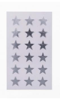 Stickers stars 18mm, plata
