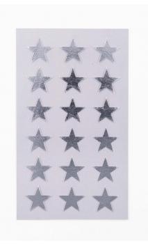 STICKERS STARS 18MM, PLATA