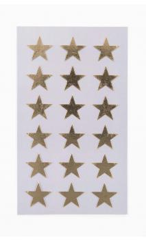 Stickers stars 18mm, oro