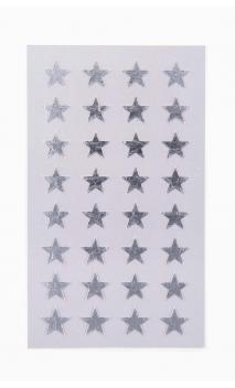 Stickers stars 13mm, plata
