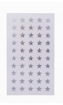 Stickers stars 10mm, plata