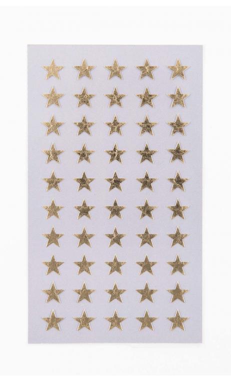 Stickers stars 10mm, oro