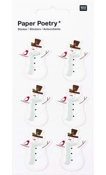 Stickers 3D, muñeco de nieve