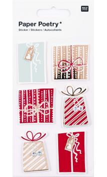 Stickers 3D,regalos rojo/oro