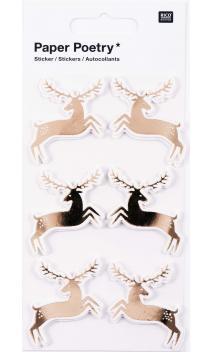 Stickers 3D, deers oro