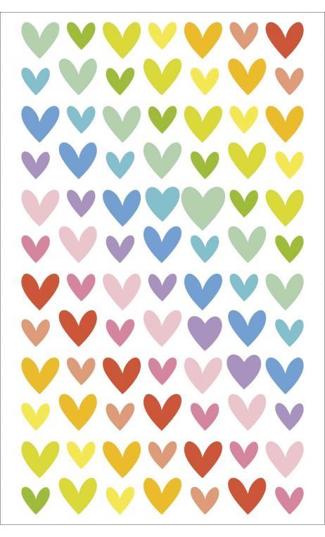 Sticker corazones platai
