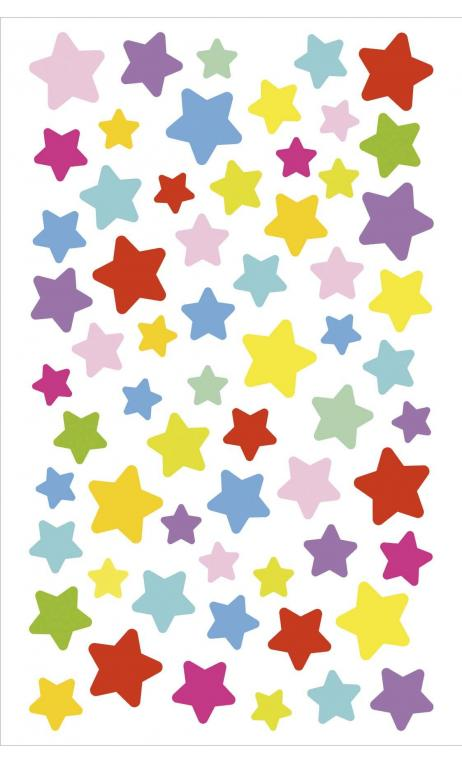 Sticker estrella, multicolor rojo