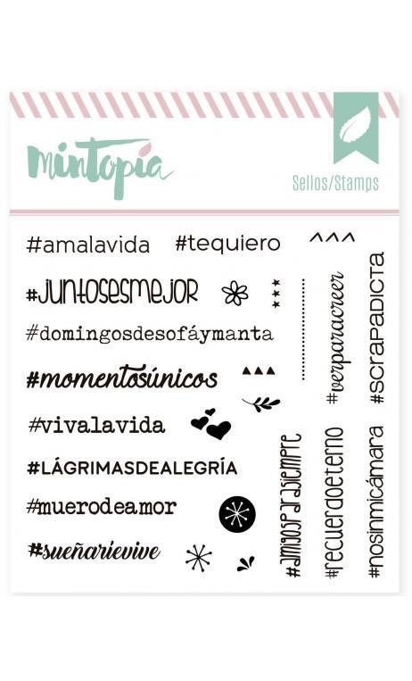 Sellos acrílicos Hashtags 2.0 10 cm x 10 cm