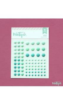 Enamel Dots Aqua 84 piezas