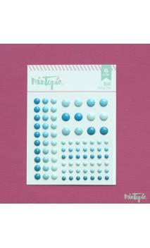 Enamel Dots Blue 84 piezas