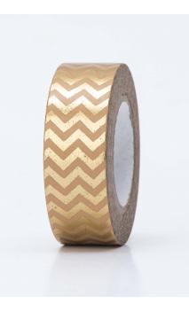 Washi Tape  zigzag  oro  oro hot foil