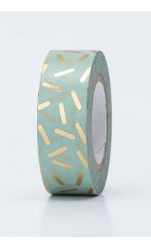 Washi Tape  straciatella  oro  oro hot foil
