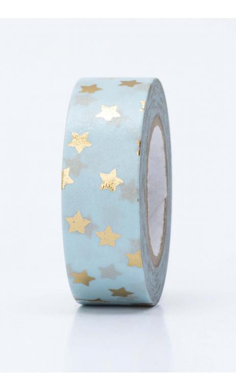 Washi Tape  estrellas oro hot foil