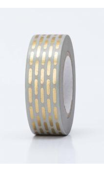 Washi Tape  lineas de puntos oro hot foil