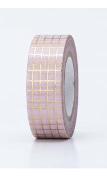 Washi Tape rejilla oro  oro hot foil