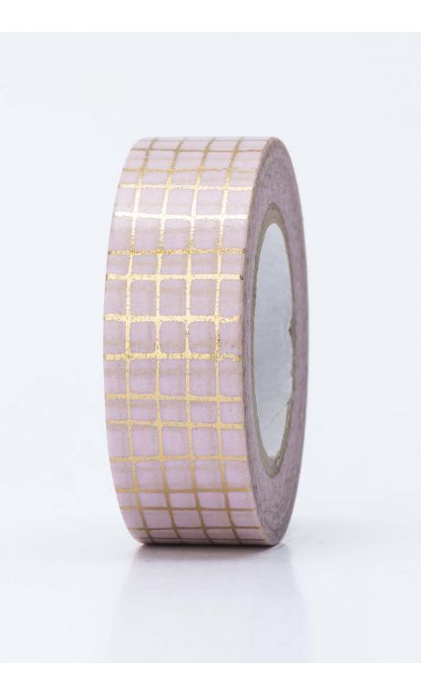 Washi Tape rejilla oro  oro hot foil