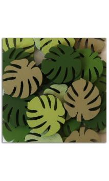 Surtido 25 confetis madera hojas