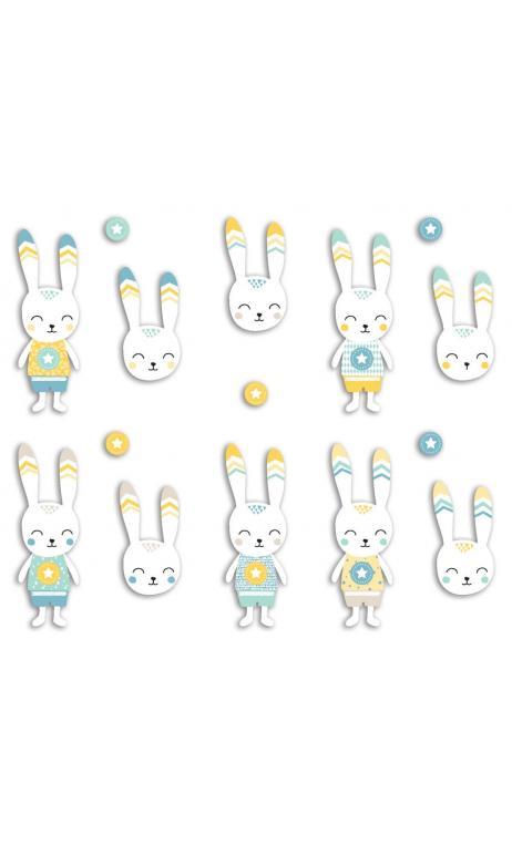 Surtido 20 formas recortadas Conejo  Leornard