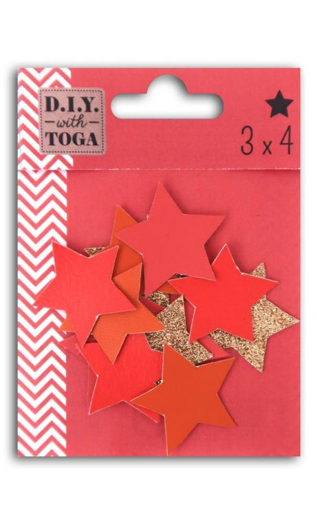 Surtido 12 Estrellas Simil cuero - Juicy