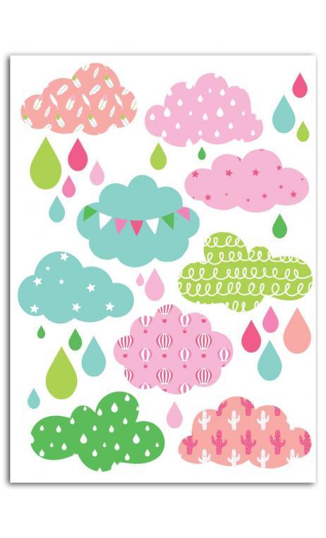 Surtido Motivos Termoadhesivo color A5 - Nube Niña