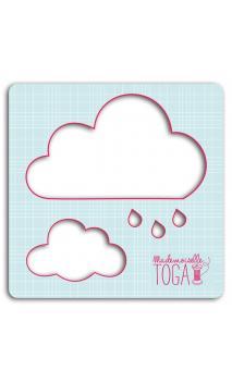 Plantilla para textil  125x125 -  Nubes