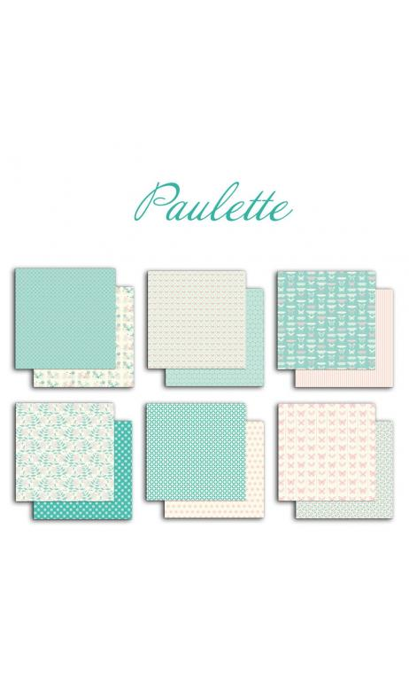 Assortment of 6 papers R/V 30X30 Paper Paulette