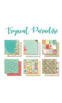 Surtido de 6 papeles R/V 30X30 Papel Tropical Paradise