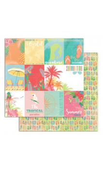Papel Tropical Paradise 3 R/V 30X30 - 1 F