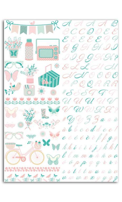 Rub-ons Color Papel Paulette - 1 PL. 15X21