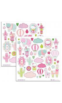 2 PL. Stickers 15X15 Josephine