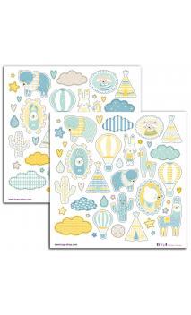 2 PL. Stickers 15X15 Leornard
