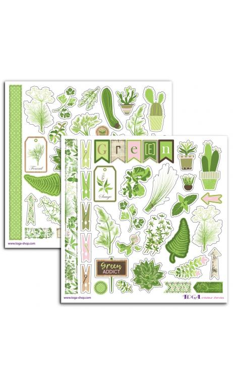 2 PL. Stickers 15X15 Oh my Green
