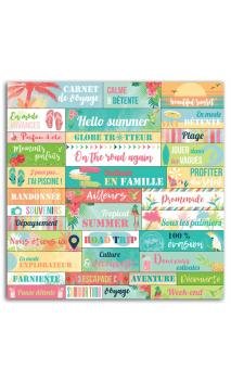 1 PL. Stickers MOTS 15X15 Papel Tropical Paradise