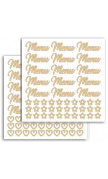 2 PL. Stickers Fantasia - Dorado Mate - Boda